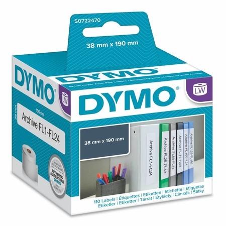 Papierové štítky Dymo S0722470, 190x36 mm, 110 ks