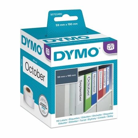 Papierové štítky Dymo S0722480, 190x59 mm, 110 ks