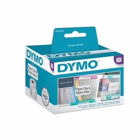 Papierové štítky Dymo S0722540, 57x32 mm, znížená priľnavosť, 1000 ks