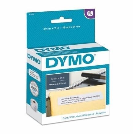 Papierové štítky Dymo S0722550, 19x51 mm, znížená priľnavosť, 500 ks