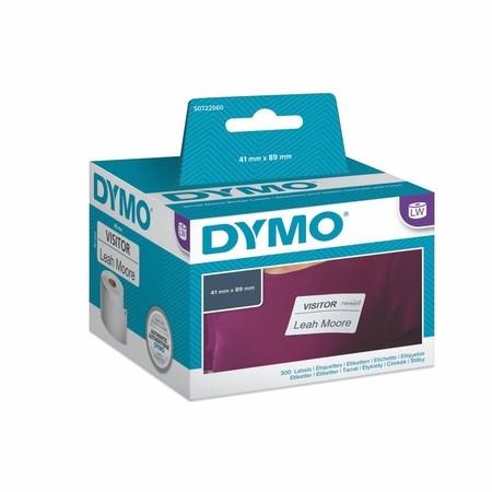 Papierové štítky Dymo S0722560, 89x41 mm, znížená priľnavosť, 300 ks