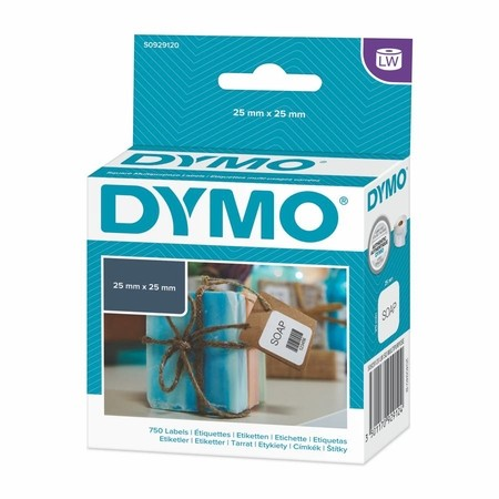 Papierové štítky Dymo S0929120, 25x25 mm, 750 ks