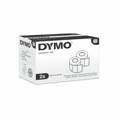 Papierové štítky Dymo S0947420, 102x56 mm, vysokokapacitné, 2x575 ks