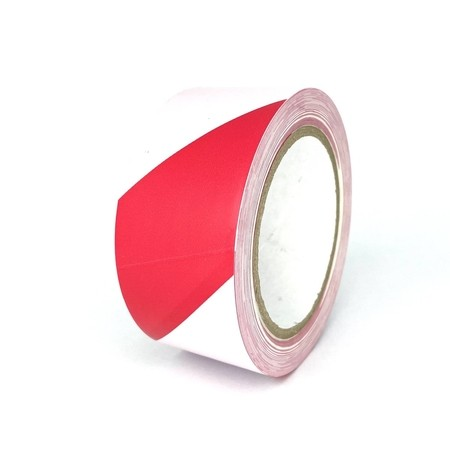 Podlahová páska TMF08 červeno-biela 50 mm, dĺžka 30 m