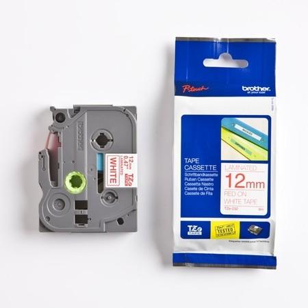 Páska Brother TZE-232 biela/červený tlač, 12 mm