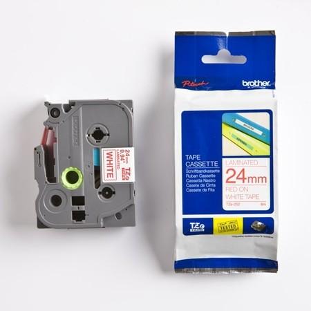 Páska Brother TZE-252 biela/červený tlač, 24 mm