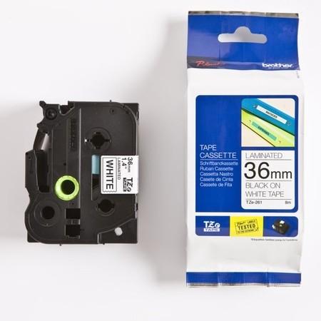 Páska Brother TZE-261 biela/čierny tlač, 36 mm