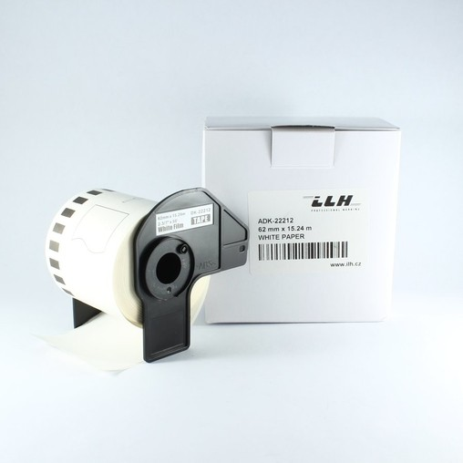 Filmová rolka ADK22212 biela, šírka 62 mm