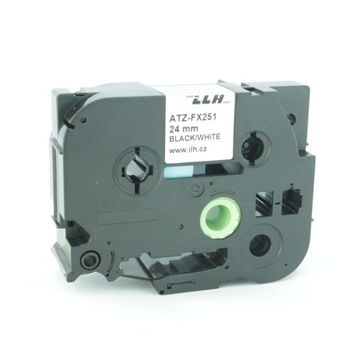 Páska ATZ-FX251 biela/čierny tlač, 24 mm, flexibilná