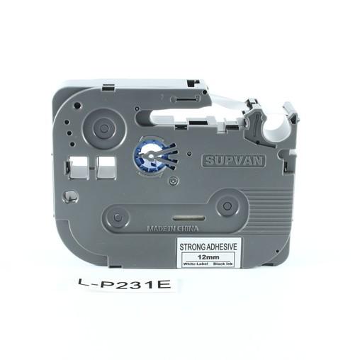 Páska Supvan L-P231E biela/čierny tlač, 12 mm, silné lepidlo
