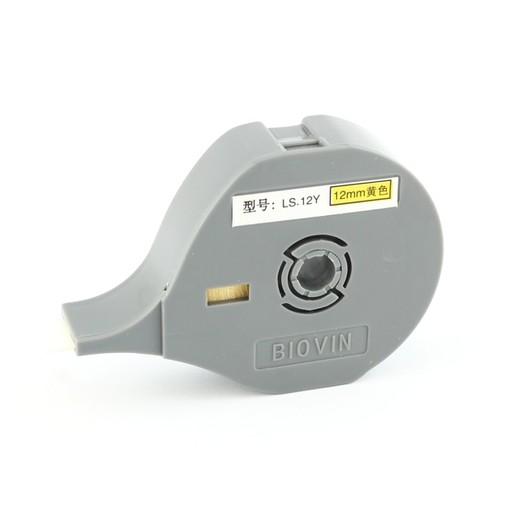 Štítková páska LS-12Y žltá, 12 mm x 6 m