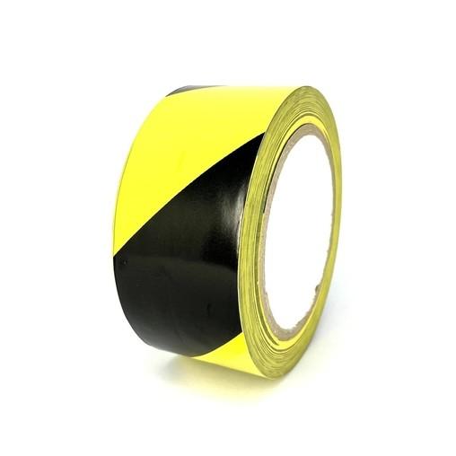 Podlahová páska TMF07 žlto-čierna 50 mm, dĺžka 30 m